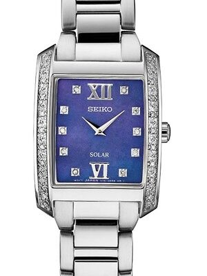 Seiko Women's Solar Blue mother-of-pearl Dial  Watch SUP401