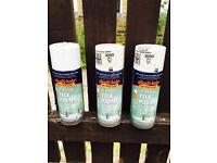 White high gloss tile paint, take all three spray bottles for only £10
