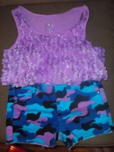 Girls Justice Camo Top and Short Set