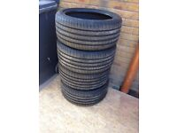4 x Goodyear Eagle F1 asymetric 3 tyres 245/40R18 extra load