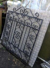 Set of steel gates