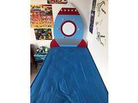 Rocket headboard plus single bed