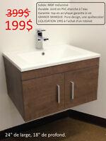MÉGA LIQUIDATION  vanité de salle de bain 399$ pour 199$