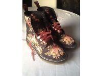 Floral Doc Martens boots size 4