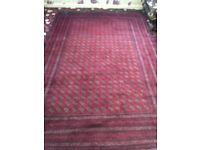 Afghan hand-sewn rug