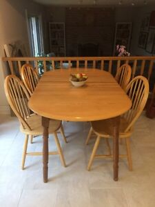 SOLD PENDING PICK UP - All wood kitchen table and 4 chairs