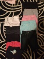 11 pair of baby girl size 6 months pants