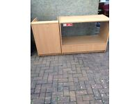 2 PIECE SHOP GLASS DISPLAY COUNTER FOR SALE