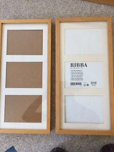 """Two Wooden IKEA 8"""" X 10"""" Photo Frames, """"Ribba"""""""