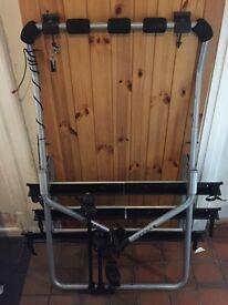 THULE Backpac 973 bike rack with 973-15 kit (Audi A3, Ford Focus), brake light, lock & 3rd bike rack