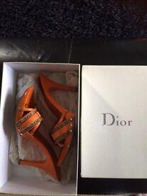 Size 6 Dior clog shoes BARGAIN