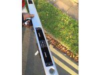 BMW e90 series dash trim in brushed titanium.