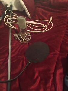 Apex 440 microphone, pop filter, and mic stand