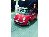 FIAT 500 RED LEATHER SEATS , IDEAL FIRST CAR OWNED BY FEMALE DRIVER 10 REG FOR £4200 negotiable