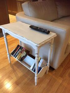 Vintage Wood Side Table - Bookshelf