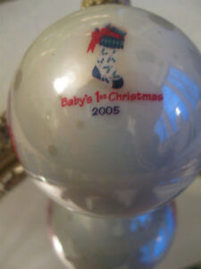 "BABY'S FIRST CHRISTMAS "" 2005 DECORATIVE HANGING KEEPSAKE"