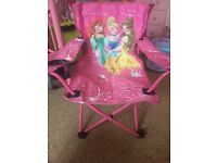 Princess camping chair