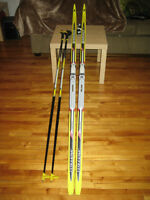 Cross Country Skiis, Poles, and Boots