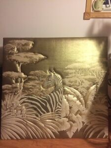 Beautiful fabric zebra picture