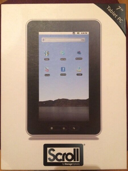 "Scroll 7"" Android tablet 2GB + 16GB with case"