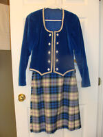 Blue highland dance outfit
