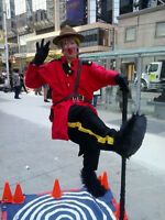 "CLOWN Stilts Juggler ""FLOATING"" 4 Business & Community Events"