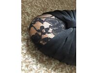 Size 6 black and lace shoes Worn once £10
