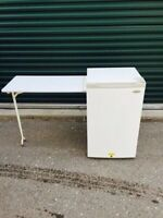 Bar Fridge with Fold Out Table