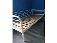 IKEA single metal frame bed