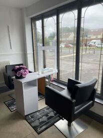 Nail Technician Chair space to rent £50pw Shop Window space facing main road (All bills included)
