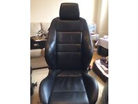 Full set Recaro heated leather seats out of a vw golf
