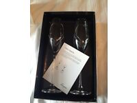 Linea Twin Heart Champagne Flutes