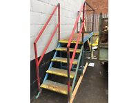 Steps and platform for access to skips etc