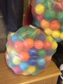Four bags of balls for children's ball pool