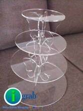 Butterfly Acrylic Round Cake Cupcake Stand Birthday Wedding Party Auburn Auburn Area Preview