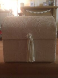 Little cream musical trinket box