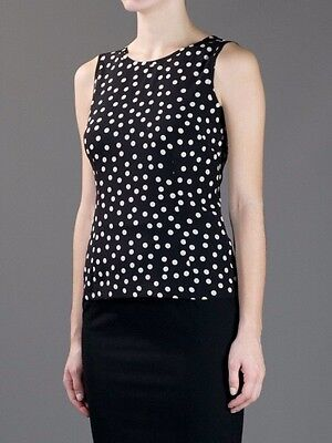 $1,095 Dolce & Gabbana Runway Polka dot Top Dress Blouse Sz IT 46