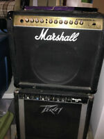 TWO Amps - Marshall & Peavey (non-working)