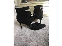 Black womens heels, River Island Size 5