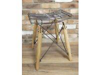 Industrial Style Metal & Wood Seat/Stool.