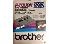 BROTHER P-TOUCH TAPE CASSETTE 7000, 8000 15m 6mm TX-211 BNIB