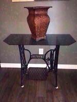 Singer Glass Table