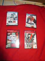 nhl 06, nhl 2004, grand theft auto 3,metal gear solid 2 ps2