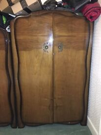 Antique wardrobe vintage shabby 1 of 2
