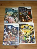 4 jeux de Nintendo Wii à vendre