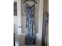 Monsoon sequinned evening dress size 10