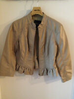 GUESS Beige faux leather jacket – Small