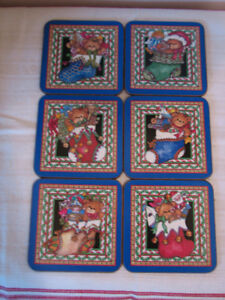 Pimpernel Lucy Rigg Christmas Teddy Bears Coasters, England Kitchener / Waterloo Kitchener Area image 1