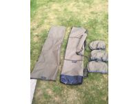 ESP 5 rod quiver and 3 reel pouch