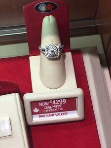 1.25 tw diamond engagement ring
